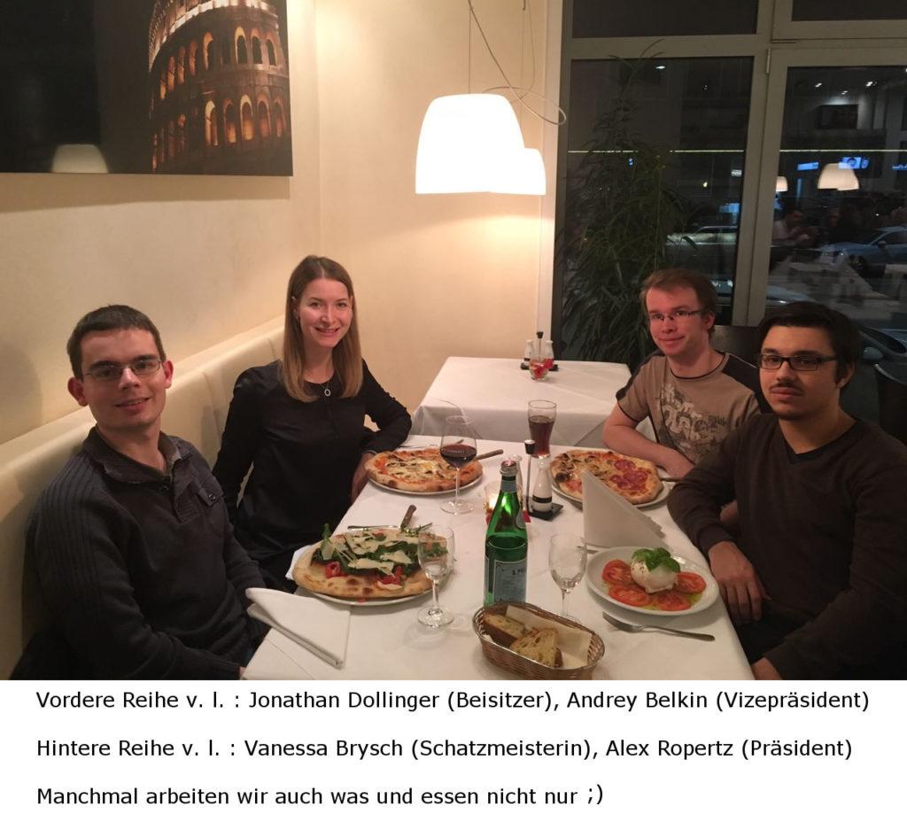 Vorstand des Debattierclubs Stuttgart 2017-2018